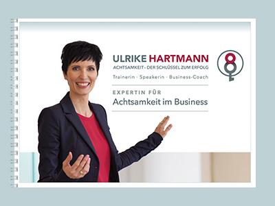 Cover der Präsentation von Ulrike Hartmann - Expertin für Achtsamkeit im Business